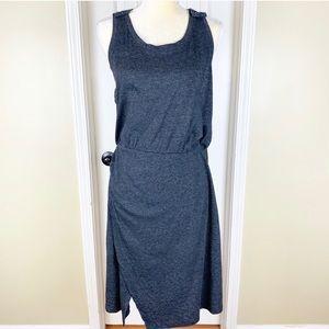 Caslon Dark Gray Knit Racerback Tank Dress Sz L